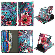 Folio Case For Universal Acer Iconia Tab A 7 inch Tablet Card Cash Slots Cover