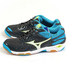 Mizuno Wave Twister 4 Dark Grey/White/Blue Volleyball Badminton Shoes V1GA157073