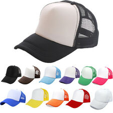 Fashion Trucker Mesh Hat Adjustable Snapback Golf Blank Plain Baseball Cap Hats