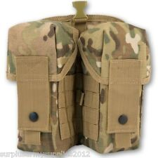ARMY WEBBING MOLLE DOUBLE AMMO POUCH MTP MULTICAM BRITISH ARMY