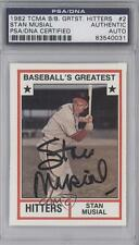 1982 TCMA Baseball's Greatest 1982-2 Stan Musial AUTHENTICATED Cleveland Indians