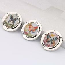 Round Butterfly Folding Travel Handbag Tote Purse Bag Hanger Table Hook Holder