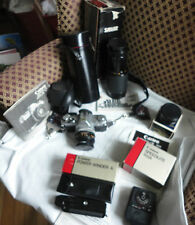Canon AT-1 Camera Canon FD Lenses, Speedlie 155A, Canon Power winder, Kentar,