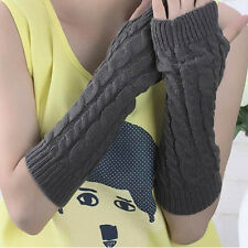 Trendy Women Men's Gloves Arm Warmer Long Fingerless knit Mitten Winter Gifts