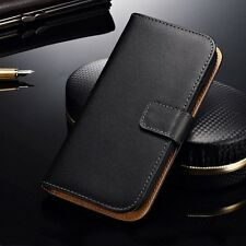 For LG L5 II 2 E460 Genuine Leather Card Holder Wallet Flip Stand Case Cover S