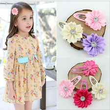 2/10 Pc Pop Wholesale Kids Baby Sun Flower Hairpin Hair Clips Barrette 6 Colors