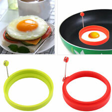 Silicone Egg Omelette Rings Shapers Kitchen Cookers Tool Moulds Fryer UK