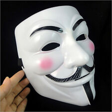 V for Vendetta Mask  Party Cosplay Costume Accessory Halloween Novelty Adult Use