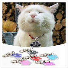 Unique Stainless Steel Paw Print Pendant Necklace Charm Tag For Pet Dog Cat  New