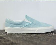 VANS Classic Slip On (Perf Suede) Light Blue WOMEN'S Classic Shoes