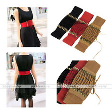 Fashion Women Lace Up Corset Style Cinch Wide Band Cinch Belt for Dresses Shirt