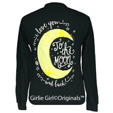 "Girlie Girl Originals ""Moon & Back"" Long Sleeve Black Unisex Fit T-Shirt"