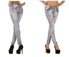 Skinny Jeans Hipster Tube Destroyed Trousers Ladies' Pants