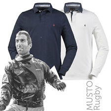 Musto MY0660 Daryl Pre-Washed Cotton Jersey Long Sleeve Casual Rugby Shirt 2 Col
