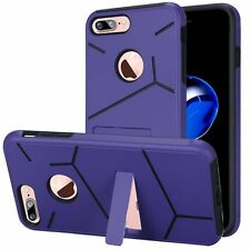 For Apple iPhone7 Plus Case,Hybrid Dual Layer Cover [Stylus+Screen Protector]