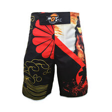 Boxer Shorts With Breathable Fabric MMA Black And Red Sports Training Shorts