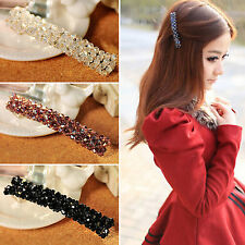 CHIC Fashion Womens Bling Headwear Crystal Rhinestone Hair Clip Barrette Hairpin
