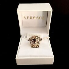 NWT $425 Gianni Versace Men's Women's Gold Palazzo Medusa Logo Ring AUTHENTIC