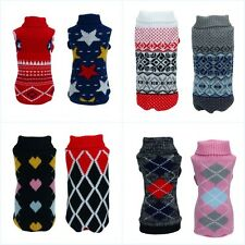 Pet Puppy Warm Clothes Cat Dog Shirt Winter Sweater Apparel Jacket Coat Costumes
