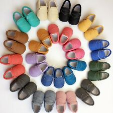 Infant Baby Soft Sole Faux Leather Shoes Kids Boys Girls Toddler Moccasin 0-18M