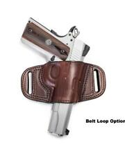 QUICK DRAW BELT SLIDE HOLSTER FOR RUGER LCP - RIGHT HAND- BLACK / BROWN