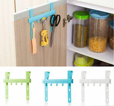 Kitchen Storage Five Hooks Holders Towel Hanger Hanging Rack Door Rack Home