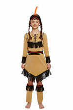 Girls Native American Indian Costume Fancy Dress Child's Kids Outfit Book Week