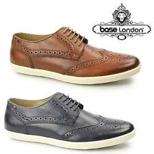 Base London PERFORM Mens Leather Casual Lace Up Reptile Brogue Shoes Trainers