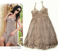 """NEW! """"Milliore"""" Sexy Pleated Shimmer Babydoll Padded Summer Cocktail Dress S M L"""