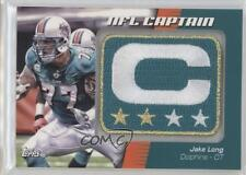 2012 Topps NFL Captain's Patch #NCP-JL Jake Long Miami Dolphins Football Card