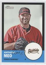 2012 Topps Heritage Minor League Edition Black Border 47 Anthony Meo Rookie Card