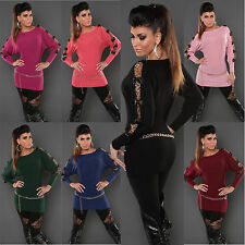 KouCla SEXY Long Jumper | BATWING DESIGN, BOW SLEEVE DETAIL | Party TOP