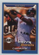 1998 CyberAction Tuff Stuff Great World Series Giveaway Entry 3 Barry Bonds Card