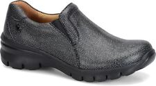 Nurse Mates London 258261 Womens Black Twilight Leather Slip On Clog Shoes