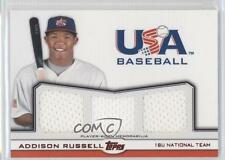 2011 Topps USA Baseball Team Triple Relic Red #TR-AR Addison Russell Rookie Card