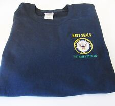"NAVY SEALS ""VIETNAM VETERAN"" UNITED STATES NAVY EMBLEM* EMBROIDERED SHIRT"