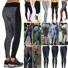 Women Yoga Fitness Leggings Running Gym Stretch Sports Pants Trousers Jeggings