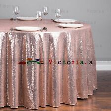 Factory Prices Many Color 48'' Round Sparkly Sequin Tablecloth Cover For Wedding