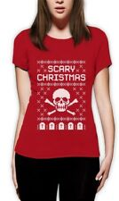 Ugly Christmas Sweater - Skull Scary Christmas Cool Women T-Shirt Gift Idea