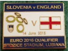 Slovenia v England Euro 2016 Qualifier Lubiana 14 June 2015 Pin Badge