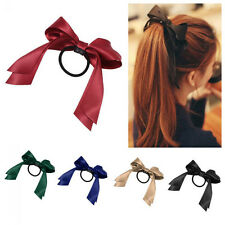 Scrunchie  Sweet Satin Ribbon Elastic Bow Hair Rope Band Ponytail Holder