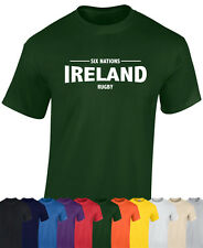 IRELAND 6 NATIONS  RUGBY T SHIRT - SIX NATIONS RUGBY - IRELAND T SHIRT - FRANCE