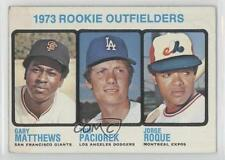1973 Topps #606 Rookie Outfielders (Gary Matthews Tom Paciorek Jorge Roque) RC