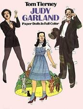 Judy Garland Paper Dolls in Full Color by Tom Tierney (1983, Paperback)