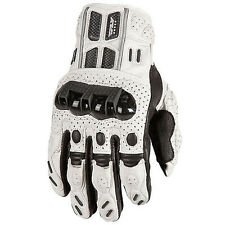 *NEW* FLY RACING FL1 Perforated Leather Motorcycle Gloves White - Choose Size