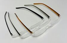 3 pair of Fashion Reading Glasses, Strength +1.00 to +3.00, Black, Gray, Brown
