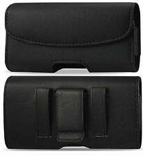 Black Leather Horizontal Belt Clip Loop Case Cover  Pouch Holster For LG Phones