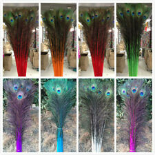 Very good! diy,10/20/50 PCS peacock feathers eye 28-32 inches / 75-80 cm Choose