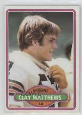 1980 Topps #418 Clay Matthews Cleveland Browns RC Rookie Football Card