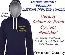 ~CUSTOM PRINTED HOODIE~Personalised-PREMIUM QUALITY - HEAVYWEIGHT Workwear